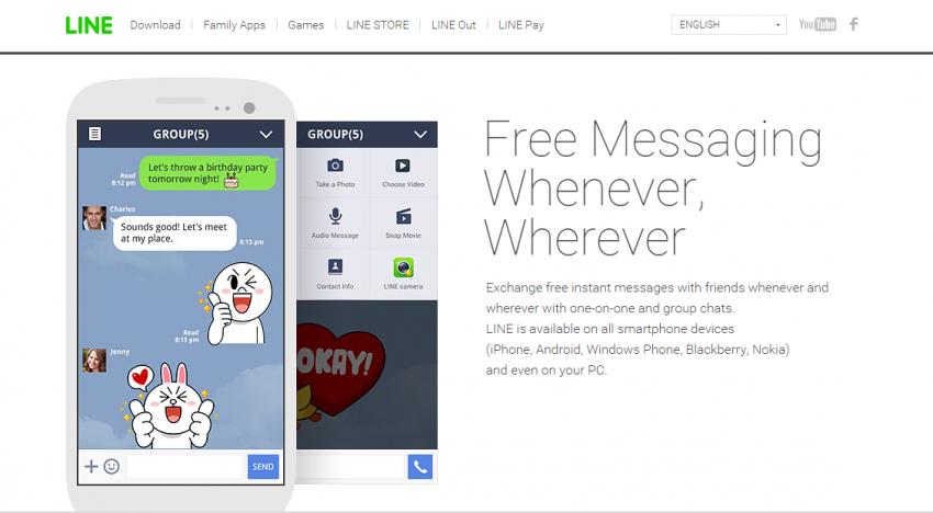 Chatovací aplikace Line nyní podporuje konferenční hovory až 200 lidí najednou
