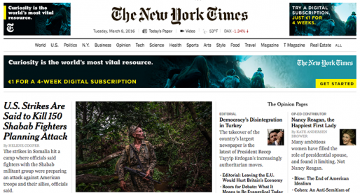 New York Times vyráží do boje s blokovači reklam