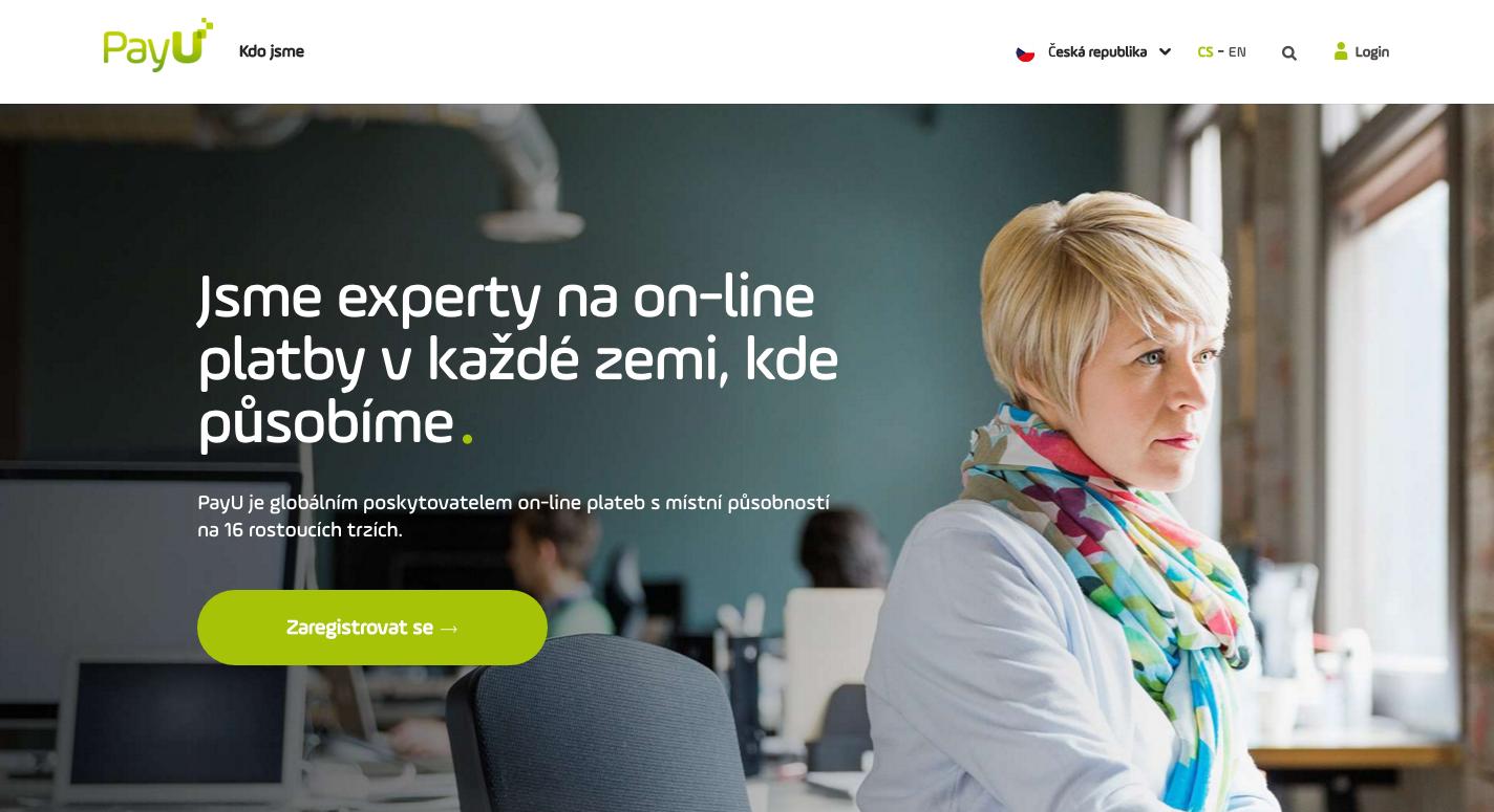 Česká verze platební platformy PayU