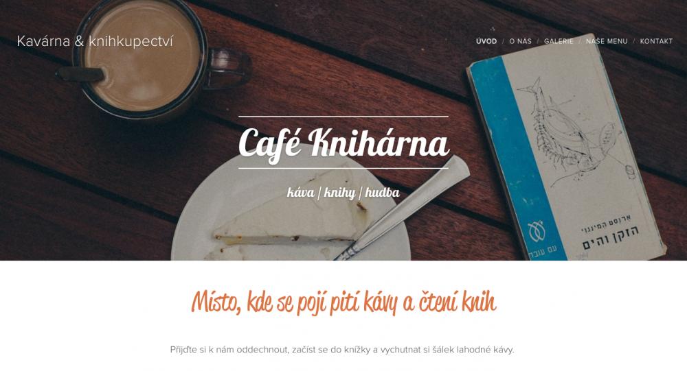 Jedna z referencí Webnode – Café Knihárna