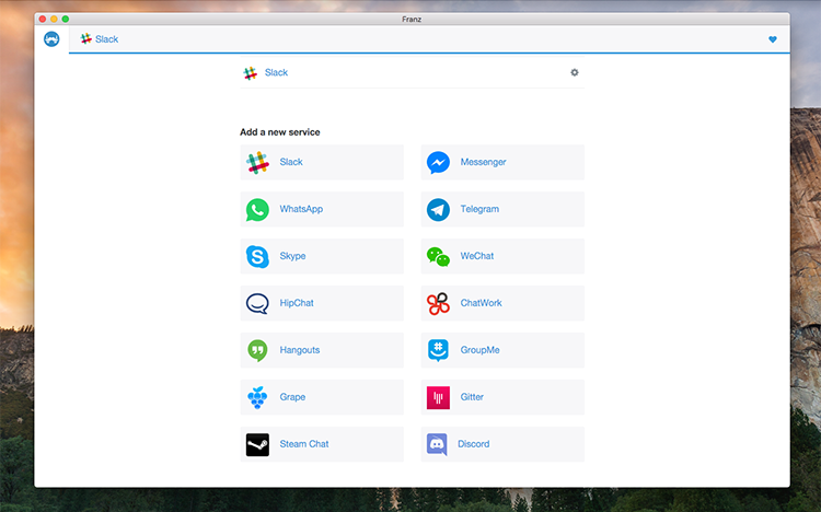 Franz 2.0: aneb Slack, Skype, Messenger, WhatsApp a Telegram v jednom