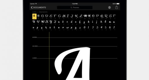 S touhle aplikací si můžete během chvilky vytvořit vlastní sadu písma přímo na iPadu