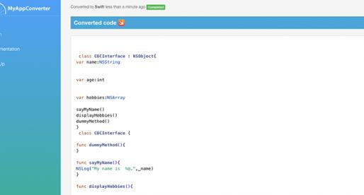 Tato aplikace vám převede Objective-C kód vaší iOS appky do Swiftu nebo Javy