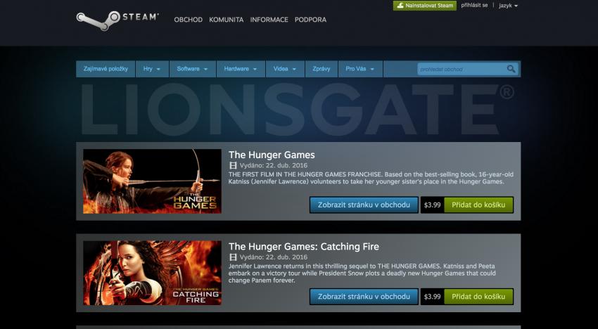 Herní platforma Steam spouští novinku, která chce konkurovat online půjčovnám filmů