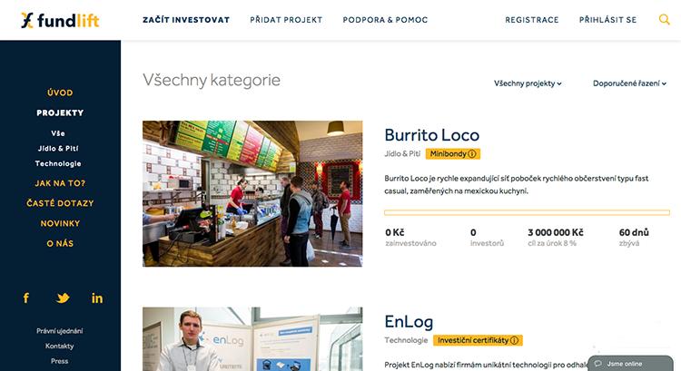 V ČR právě odstartovala crowdfunding platforma Fundlift, která za investici nabídne podíl ve firmě