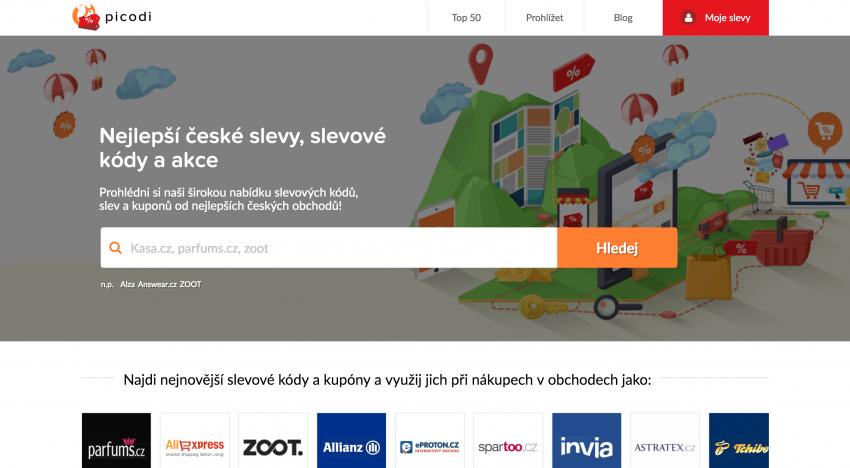 Český slevový portál Slevovekody.com se mění na Picodi a hlásí obrat 300 milionů korun