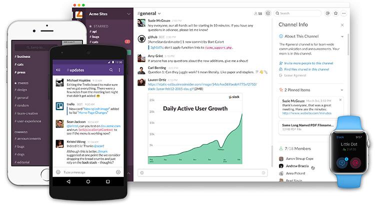 Komunikační nástroj Slack vyrostl na 3 miliony denních uživatelů. Milion z nich je platících