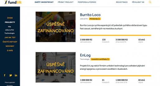 Crowdfundingový portál Fundlift.cz za první týden zajistil investice ve výši 4 milionů Kč