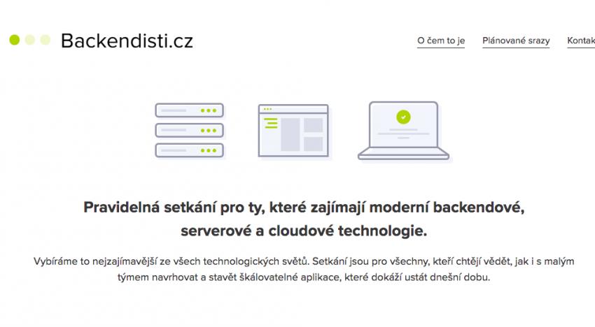 Backendisti.cz: první setkání zájemců o moderní backendové a cloudové technologie se blíží