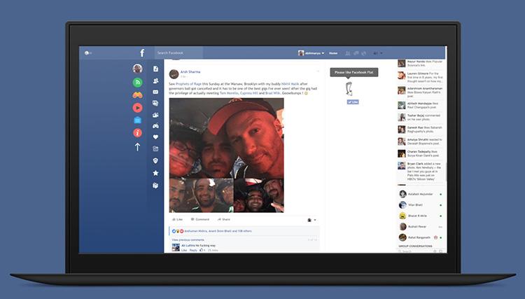 Flatbook: elegantní rozšíření, které pročistí váš Facebook a zbaví ho reklam
