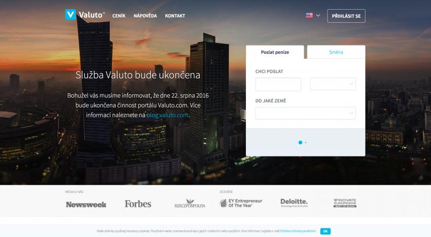 Online směnárna Valuto, která jen v ČR směnila přes miliardu korun, ukončuje provoz