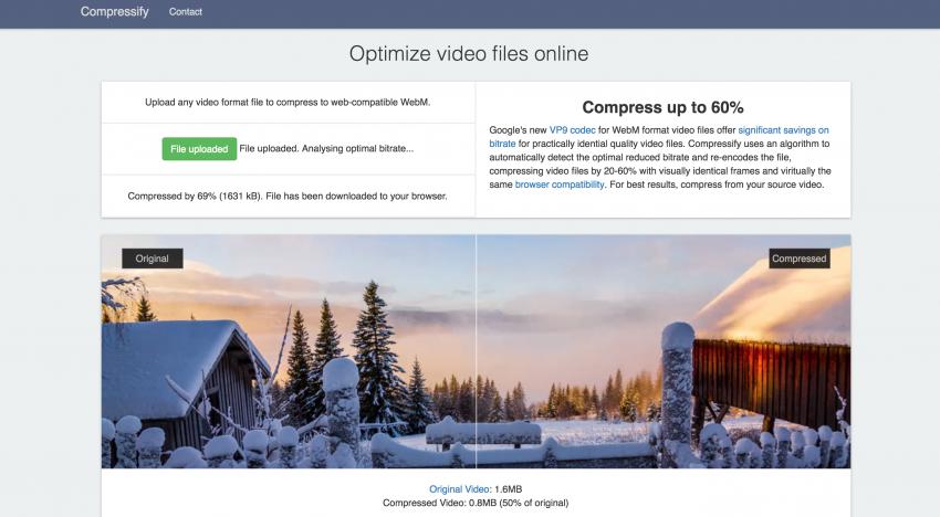 Díky tomuto nástroji je možné snížit velikost videa až o 60 % se zachováním kvality
