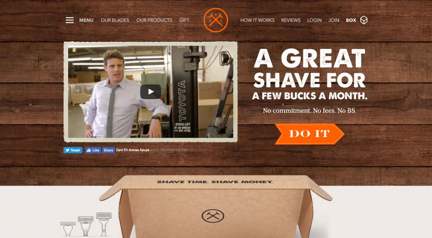 Gigant Unilever si za miliardu dolarů kupuje startup na zasílání žiletek, Dollar Shave Club