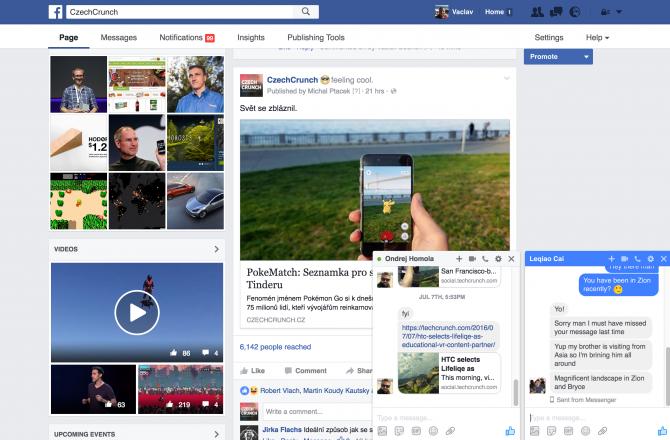 Takto vypadá nový design messengeru, který Facebook začíná vypouštět mezi uživatele