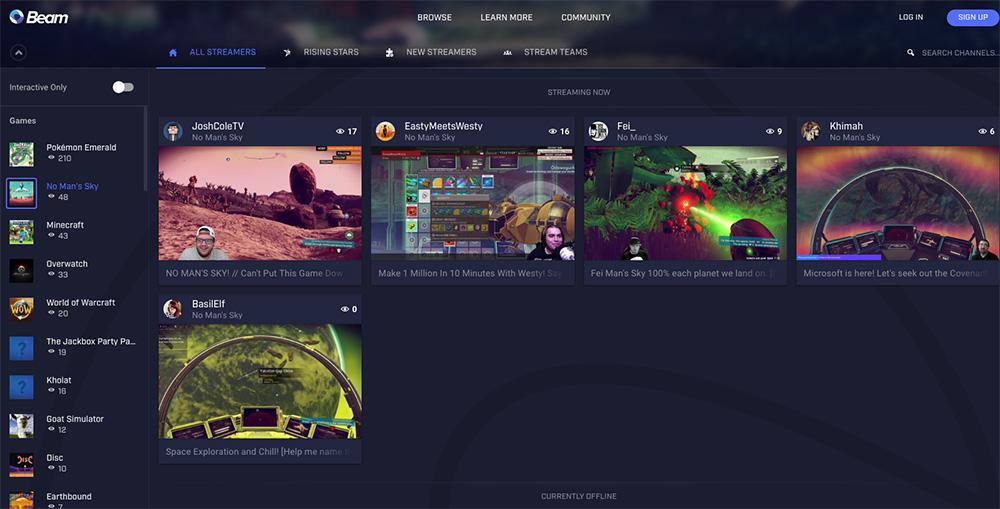 Microsoft koupil pro Xbox streamovací službu Beam, která je rychlejší než Twitch či YouTube