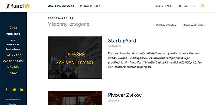 Smíchovský StartupYard vybral na platformě Fundlift.cz 6,25 milionů Kč