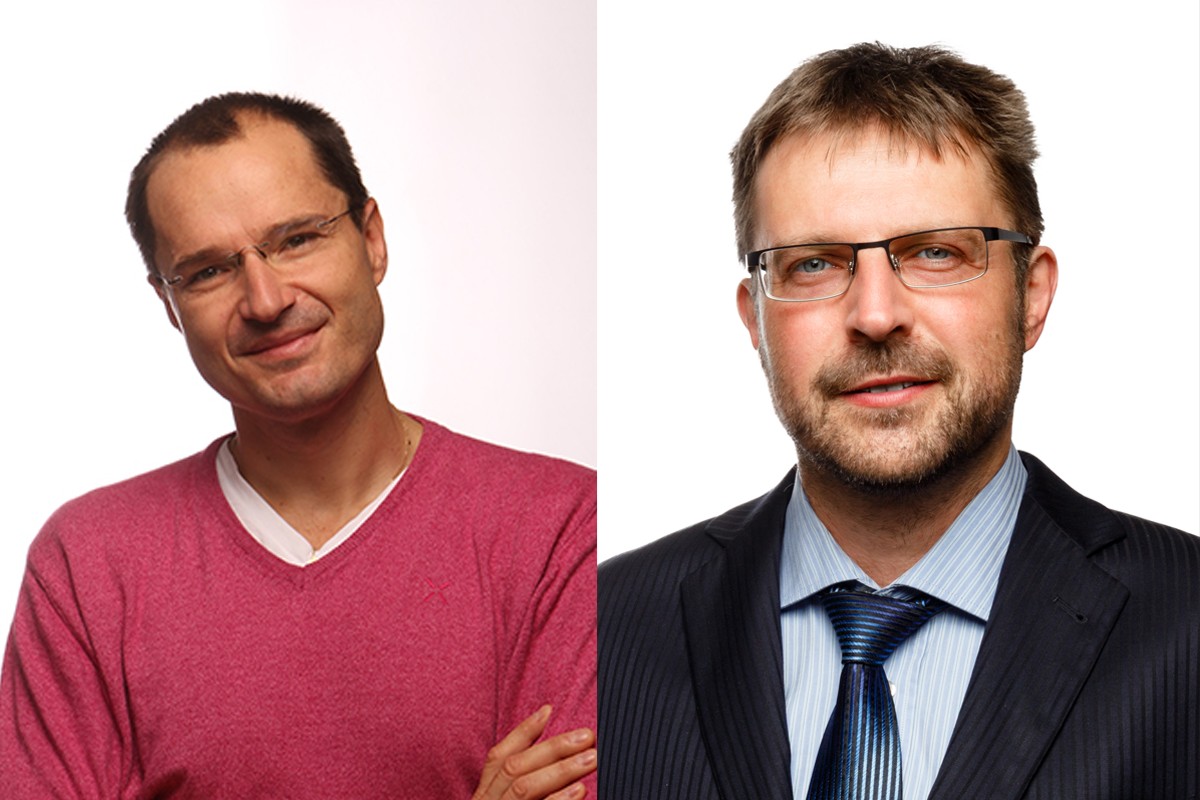 Zleva Martin Cakl (Adol) a Marek Slavíček (Abor)