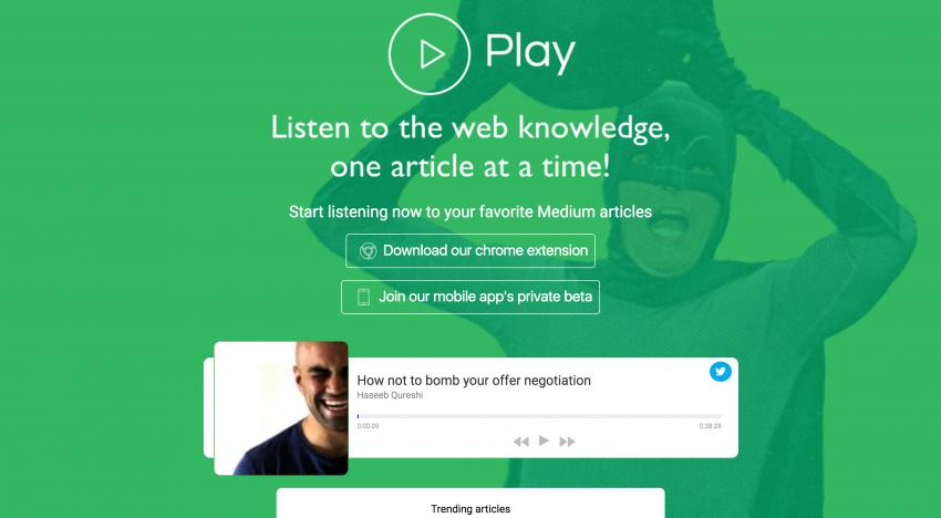 S touto službou si můžete pustit audioverzi jakéhokoliv článku ze serveru Medium.com