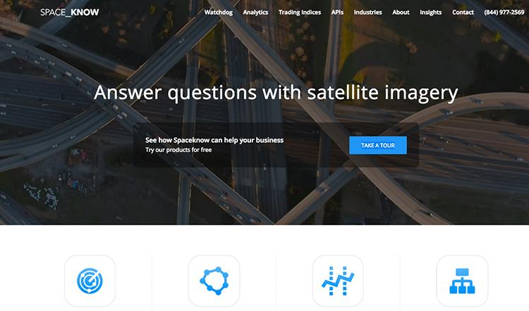 Spaceknow: český startup od bývalého zaměstnance NASA, který analyzuje ekonomické faktory pomocí satelitních snímků