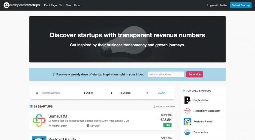 Transparent Startups: nahlédněte do detailních finančních čísel rostoucích startupů