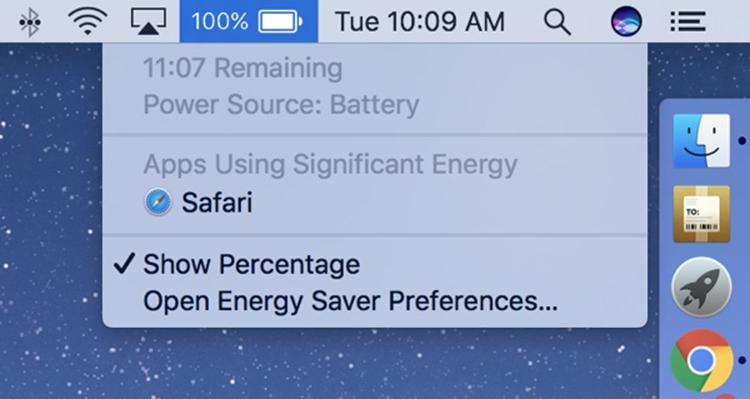 Apple vyřešil slabou baterii u nových MacBooků Pro tak, že odstranil indikátor zbývající výdrže