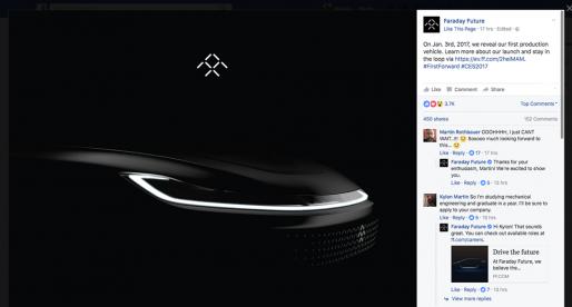 Ambiciozní konkurent Tesly, startup Faraday Future už brzy představí svůj první elektrický vůz