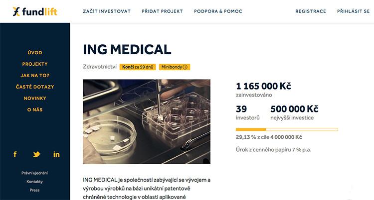 Česká firma zaměřující se na nanotechnologie ve zdravotnictví chce na Fundlift.cz vybrat 4 miliony Kč