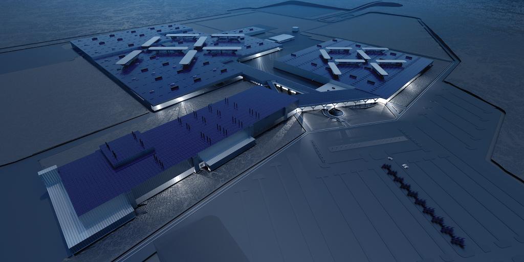 Původní koncept továrny za 1 miliardu dolarů
