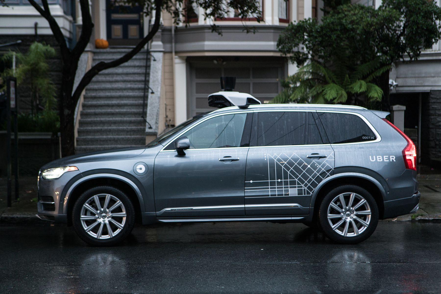 Autonomní vozidlo testované Uberem