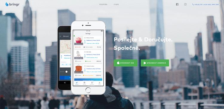 Český startup Bringr umožňuje posílání a doručování balíčků přímo mezi jeho uživateli