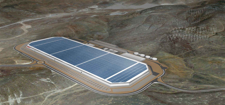První výrobní továrna Tesla Gigafactory v americkém státě Nevada