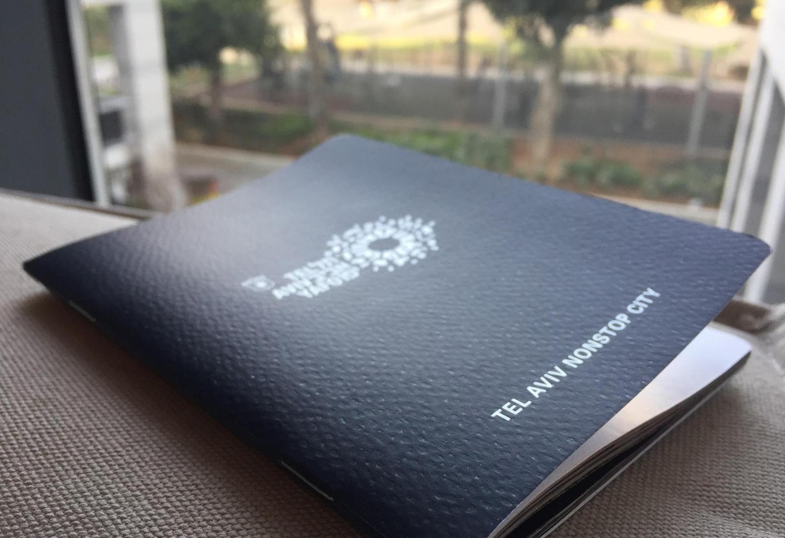 Pas města Tel Aviv-Yafo je plný fotek a zajímavých informací o městě