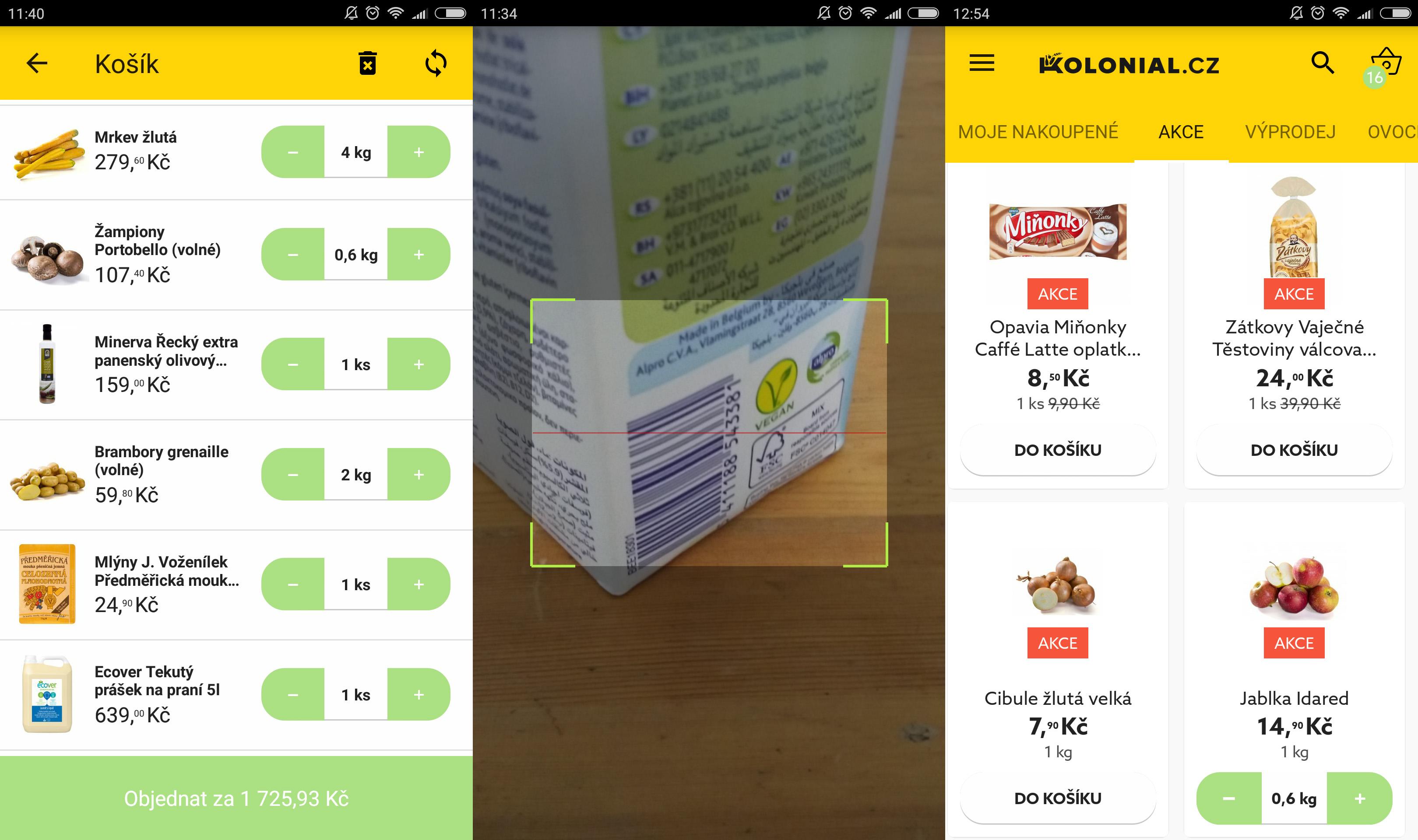 Mobilní aplikace Kolonial