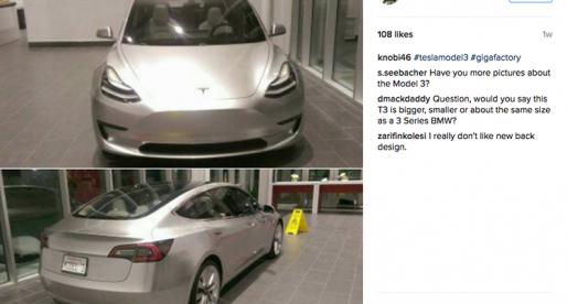Podívejte se na nejnovější fotky dlouho očekávané Tesly Model 3
