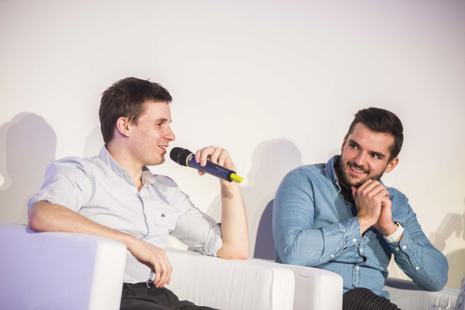 Lukáš Stibor (Cleevio / GAMEE) a Lubo Smid (STRV)