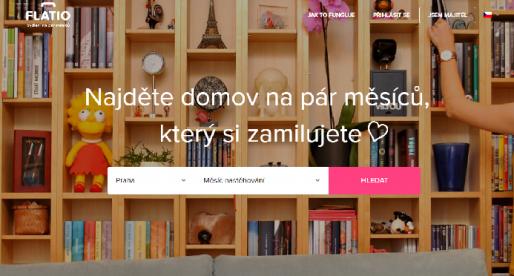 Brněnský startup Flatio nabízející střednědobé pronájmy zprostředkoval za první rok více jak 24 tisíc nocí