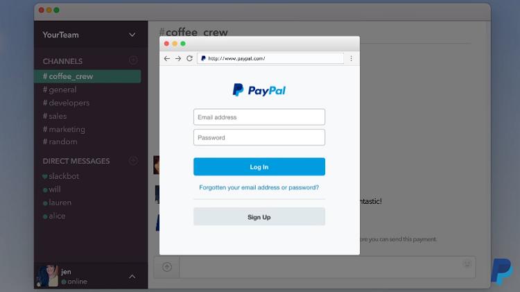 PayPalem je nově možné platit i na komunikační službě Slack