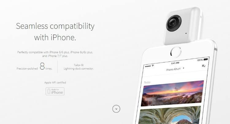 S tímto gadgetem můžete pomocí iPhonu natáčet 360 videa