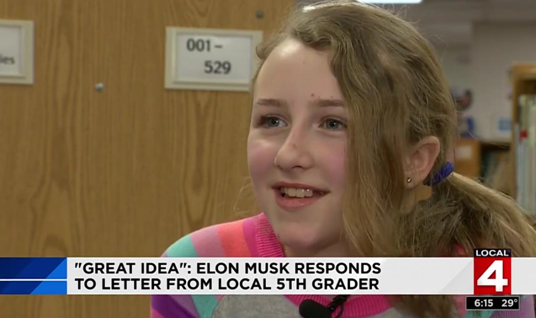Elon Musk se nechal inspirovat desetiletou školačkou ohledně marketingové strategie Tesly