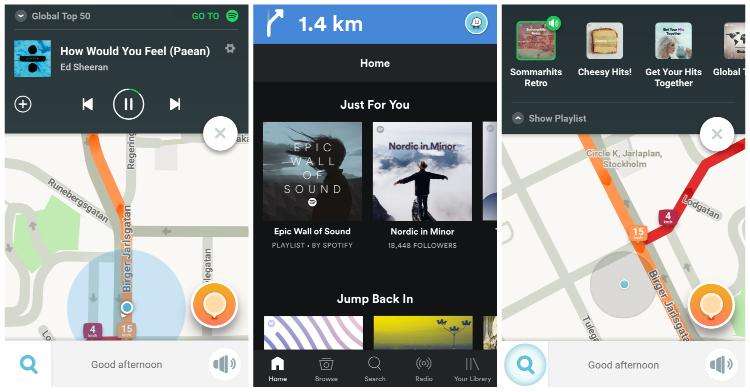 Řidiči nyní mohou ovládat svou hudbu ze Spotify přímo z rozhraní navigace Waze