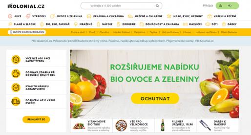 Eshop s potravinami Kolonial.cz zavádí dynamický pricing