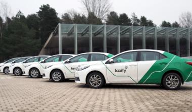 Taxify fleet Tallinn
