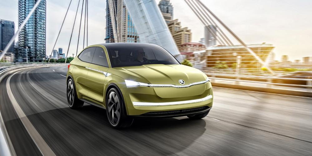 Česká Škoda oficiálně představila svůj první elektromobil s názvem Vision E