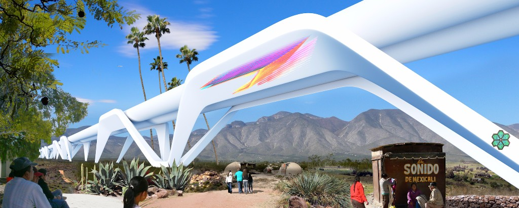 Podívejte se na návrh výstavby Hyperloopu a úplného zrušení hranic mezi USA a Mexikem