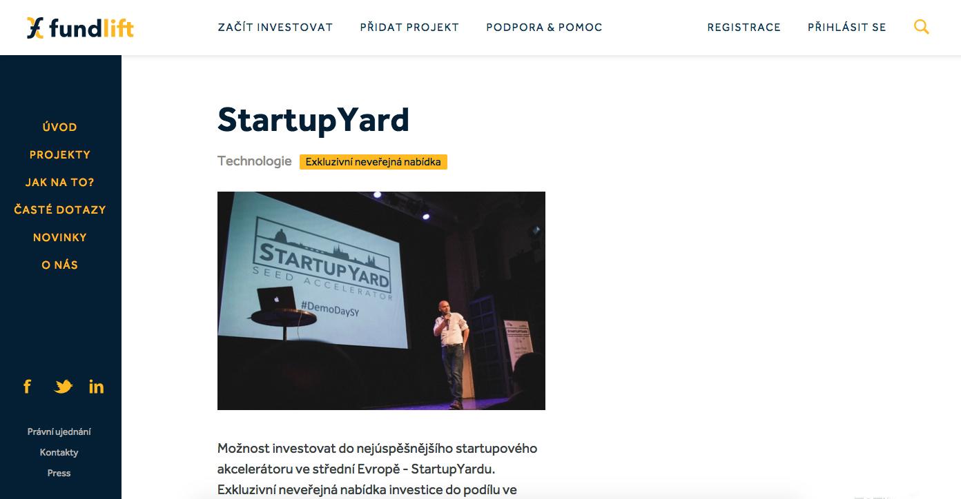 StartupYard chce tentokrát získat 20 milionů Kč