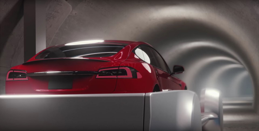 Takto vypadá reálná podoba výtahu pro auta od Muskovy nové firmy The Boring Company