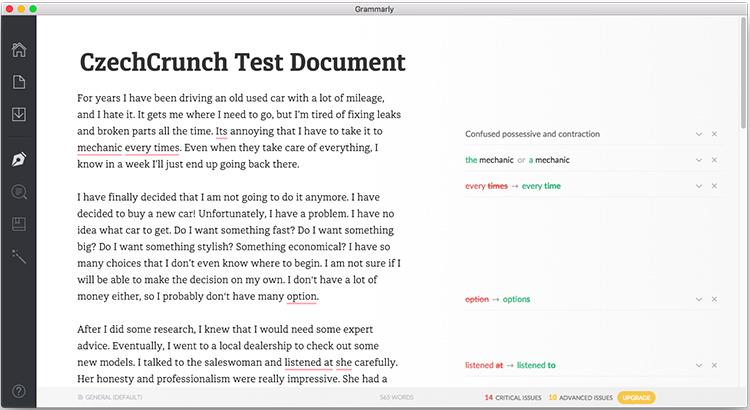 Aplikace Grammarly, která automaticky vylepšuje vaší angličtinu, získala 2,7 miliardovou investici