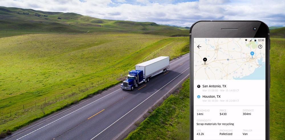 Uber spustil novou službu pro řidiče kamionů a menší přepravní firmy