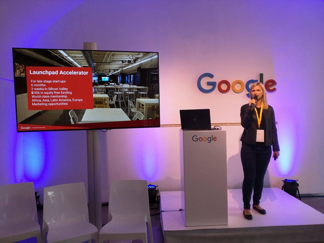 Ola Krainski při představování Launchpad Accelarator