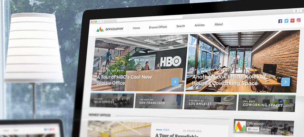 Český startup Officelovin, publikující nejlepší kanceláře z celého světa, boduje na ProductHuntu